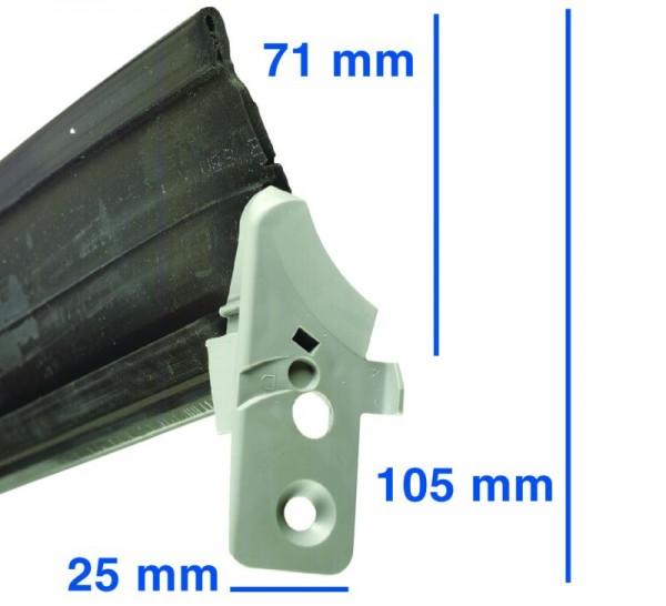 Türdichtung 1seitig unten passend wie Bosch Siemens Neff 00298534 (hochqualitativer Alternativartike