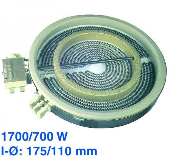 Strahlheizkörper 175/110mmØ 1700/700W 230V ET2080220839