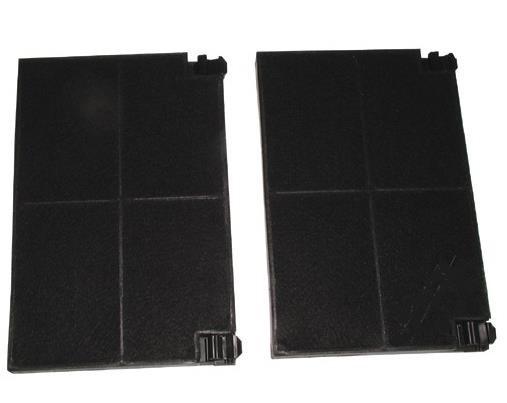 Kohlefilter 225x155mm, 2 Stück passend wie AEG Seppelfricke Privileg 4006139663 50232980008 89966001