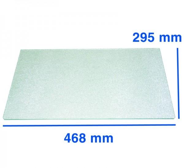 Glasplatte 468x295mm Gemüsefachabdeckung Bauknecht Whirlpool 481245088125 481946678214 481946678441
