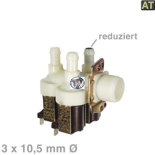 Magnetventil 3fach 90° 10,5mmØ mit Reduzierung ET2028320842