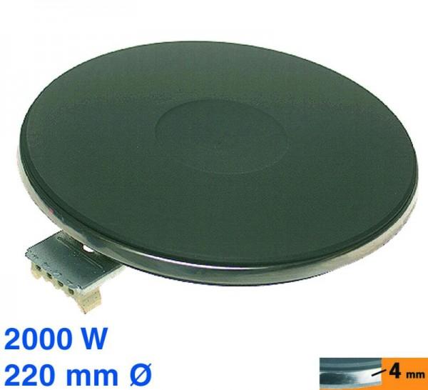 Kochplatte 220mmØ 2000W 230V ET2080120608